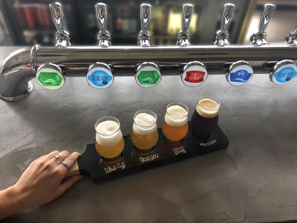 la palette de dégustation des quatre bières signature