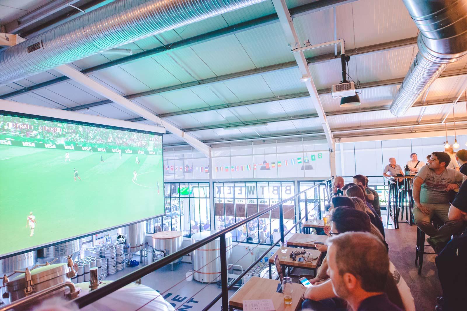 écran géant match de foot