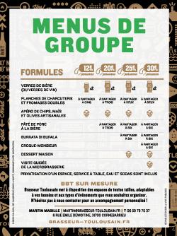 Menu de groupe (10 pers. et plus)